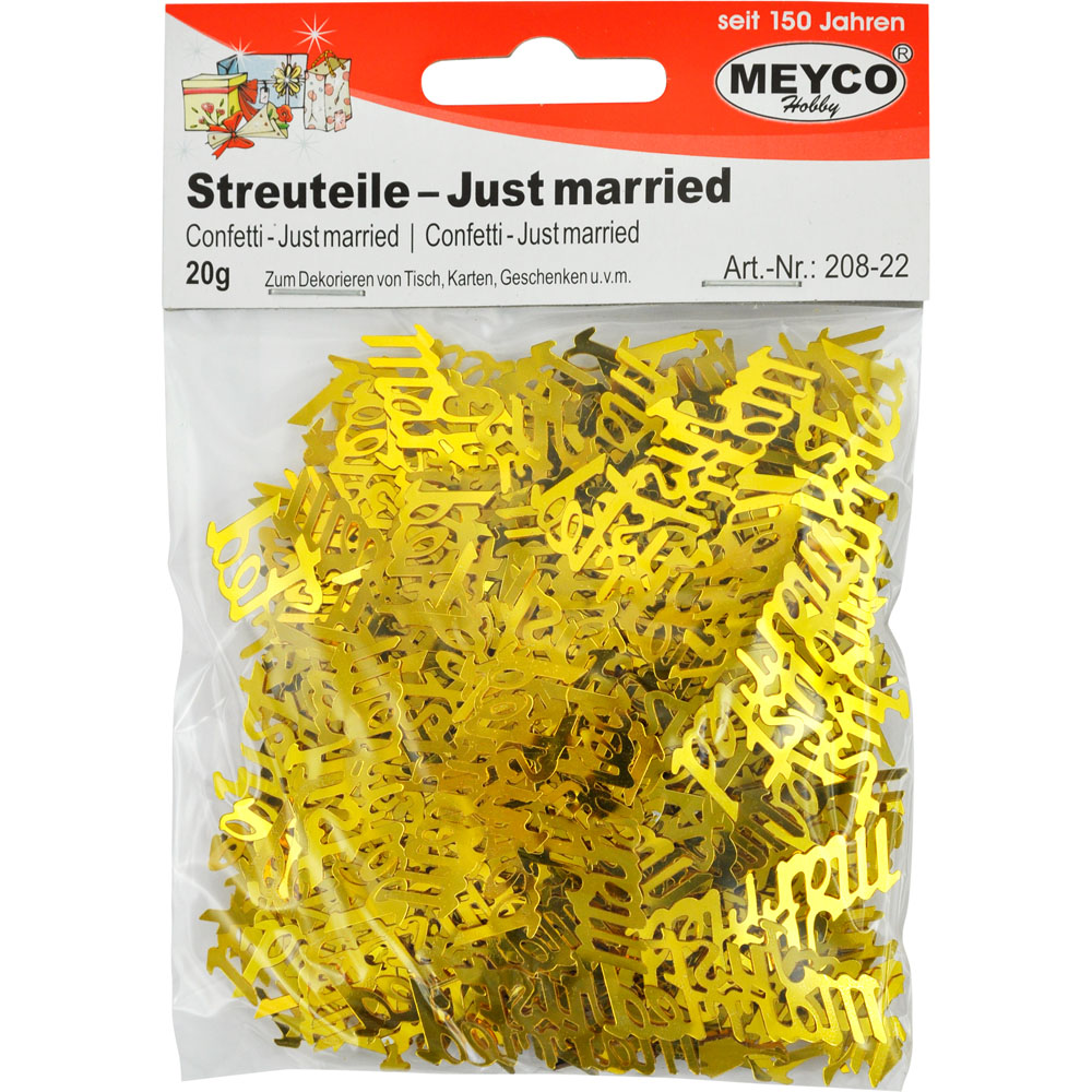 Streuteile -Just married-, gold, 20g