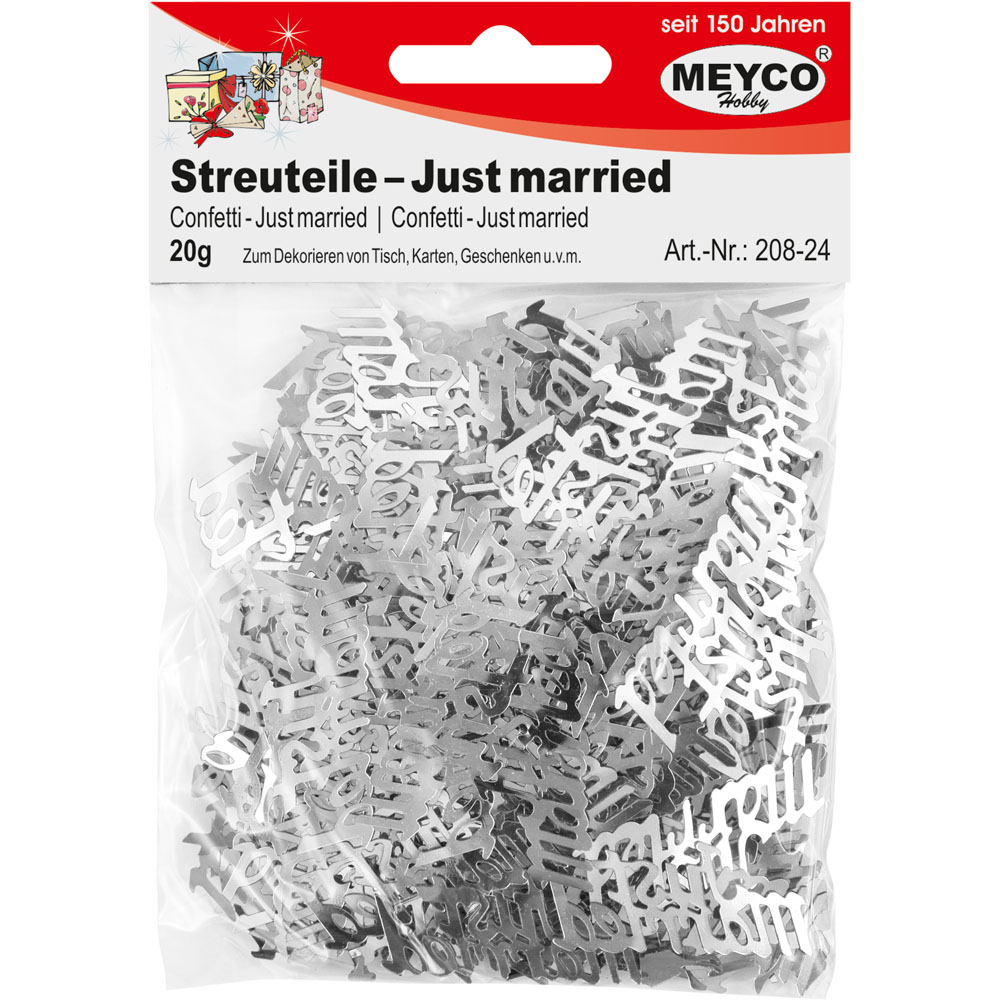 Streuteile -Just married-, silber, 20g