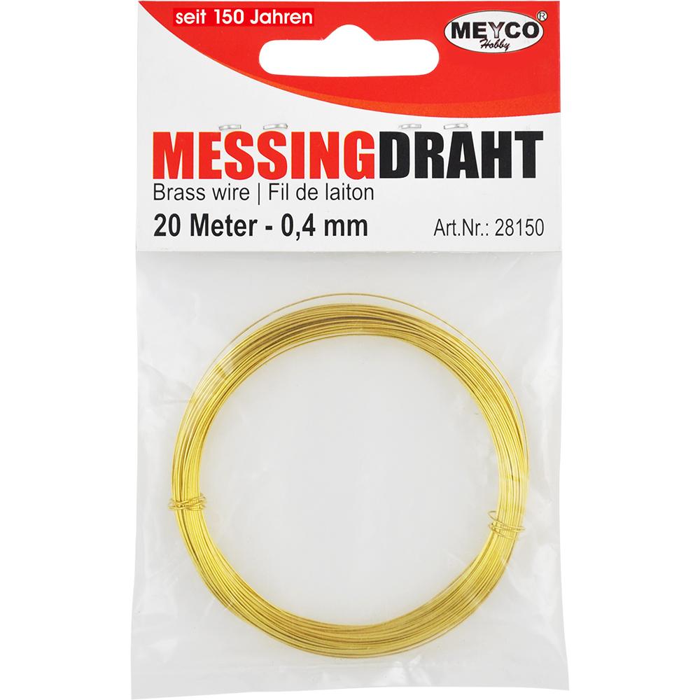 Messingdraht-Ring, ø 0,6mm x 10m im SB-Beutel [28151] : Meyercordt GmbH