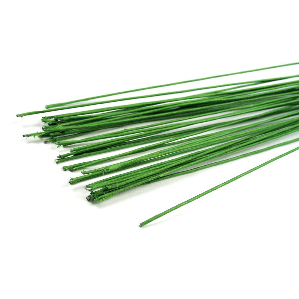 Draht papierumwickelt 0,8mm x 50cm 20 Stck. grün [28223 ...