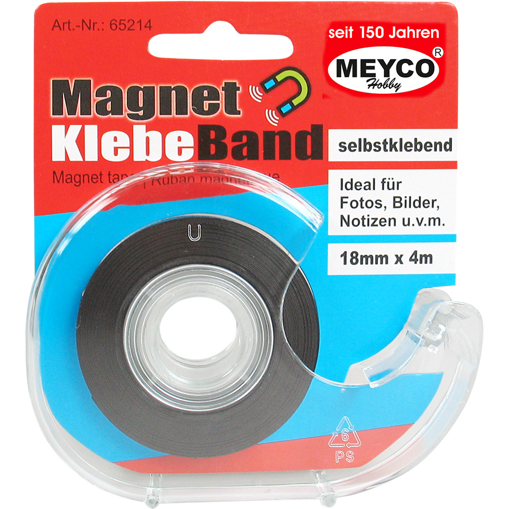 Magnetband 18mm - 4 Meter p. Rolle / Spender