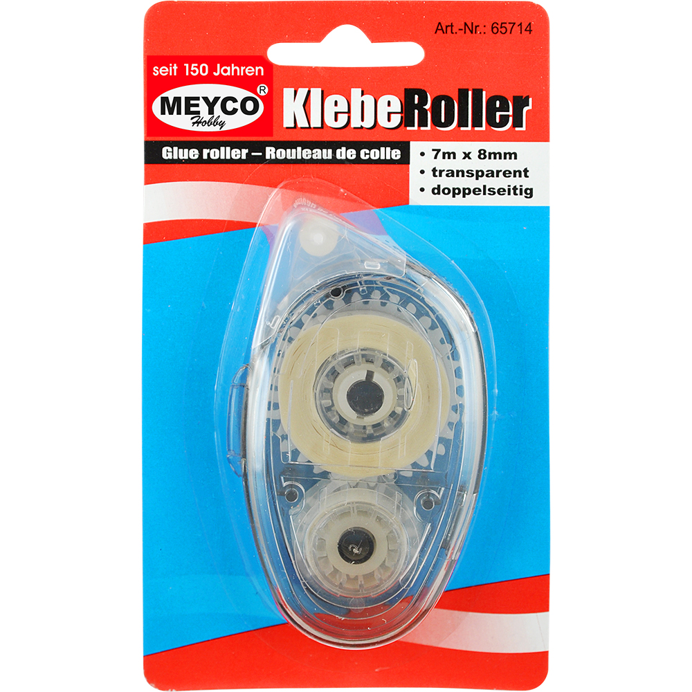 Kleberoller, 7m, 8mm, transparent